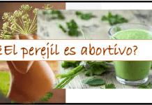 El perejil es abortivo