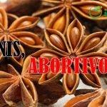 el anis es abortivo