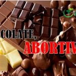 el chocolate es abortivo