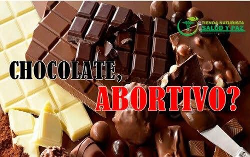 el chocolate es abortivo